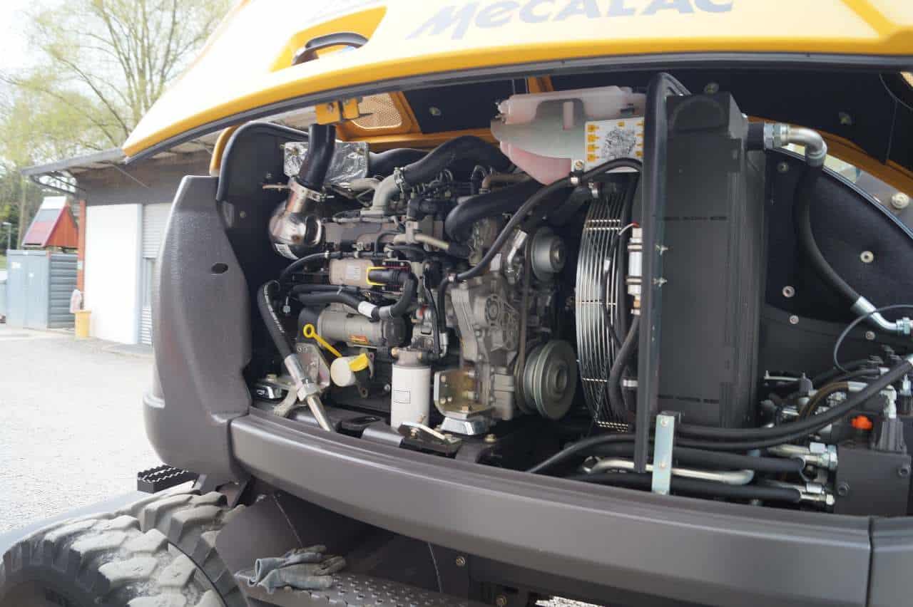 Mecalac Mobilbagger 714 MWe 714mwe Bagger gebraucht allrad allradlenkung kinematik MBN Baumaschinen 2