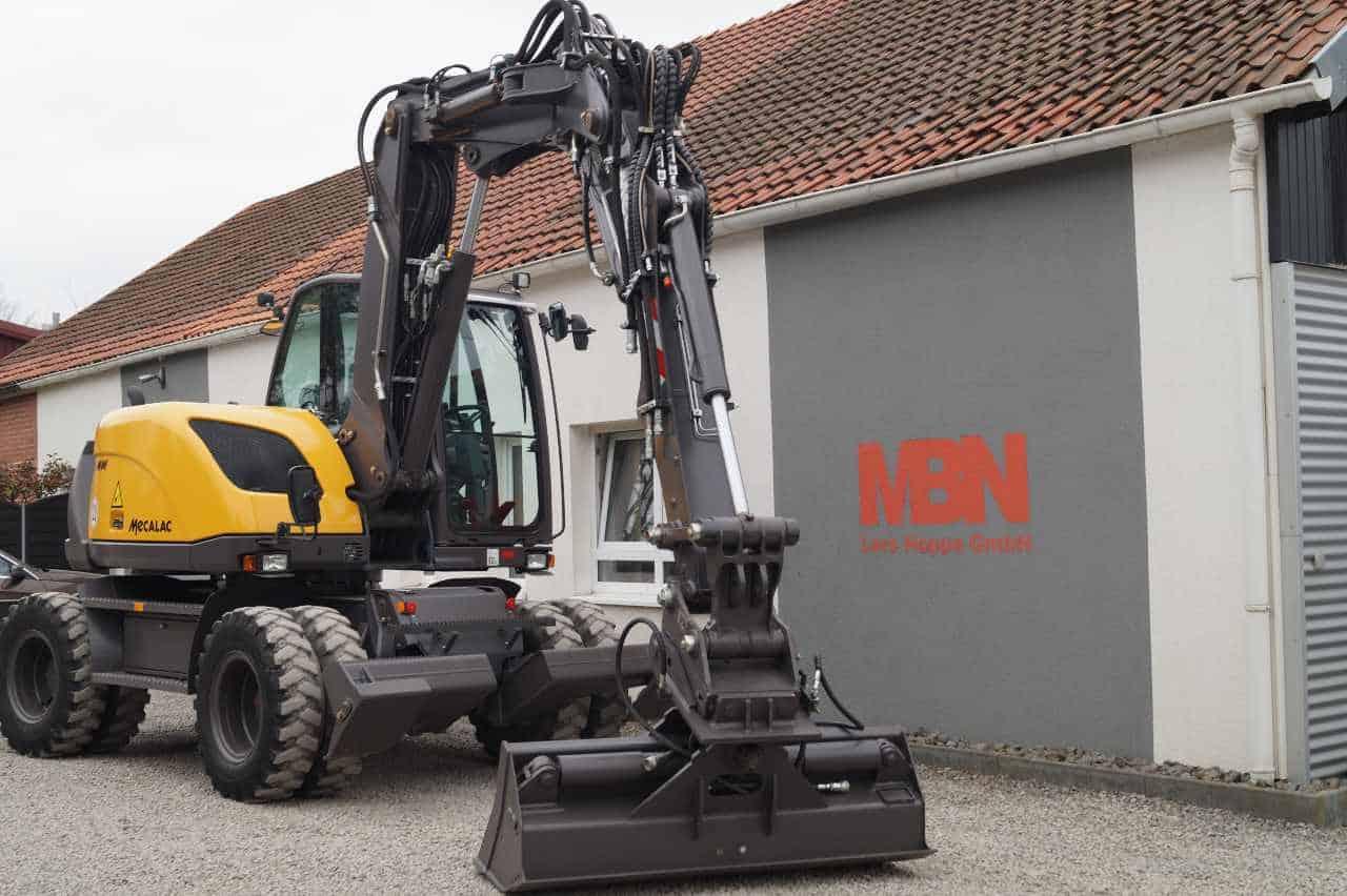 Mecalac Mobilbagger 714 MWe 714mwe Bagger gebraucht allrad allradlenkung kinematik MBN Baumaschinen 4