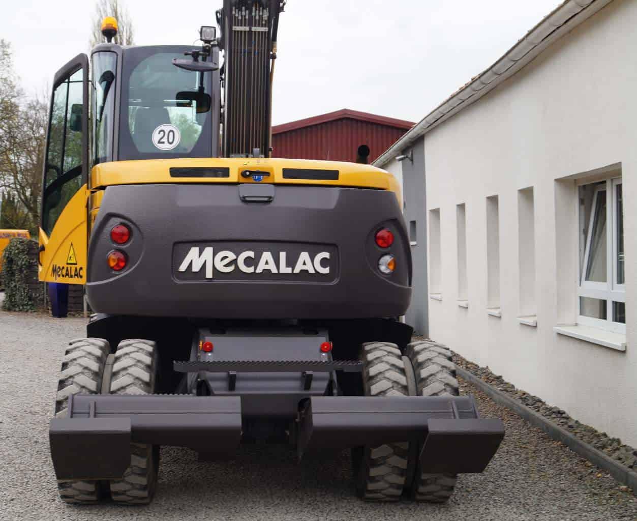 Mecalac Mobilbagger 714 MWe 714mwe Bagger gebraucht allrad allradlenkung kinematik MBN Baumaschinen