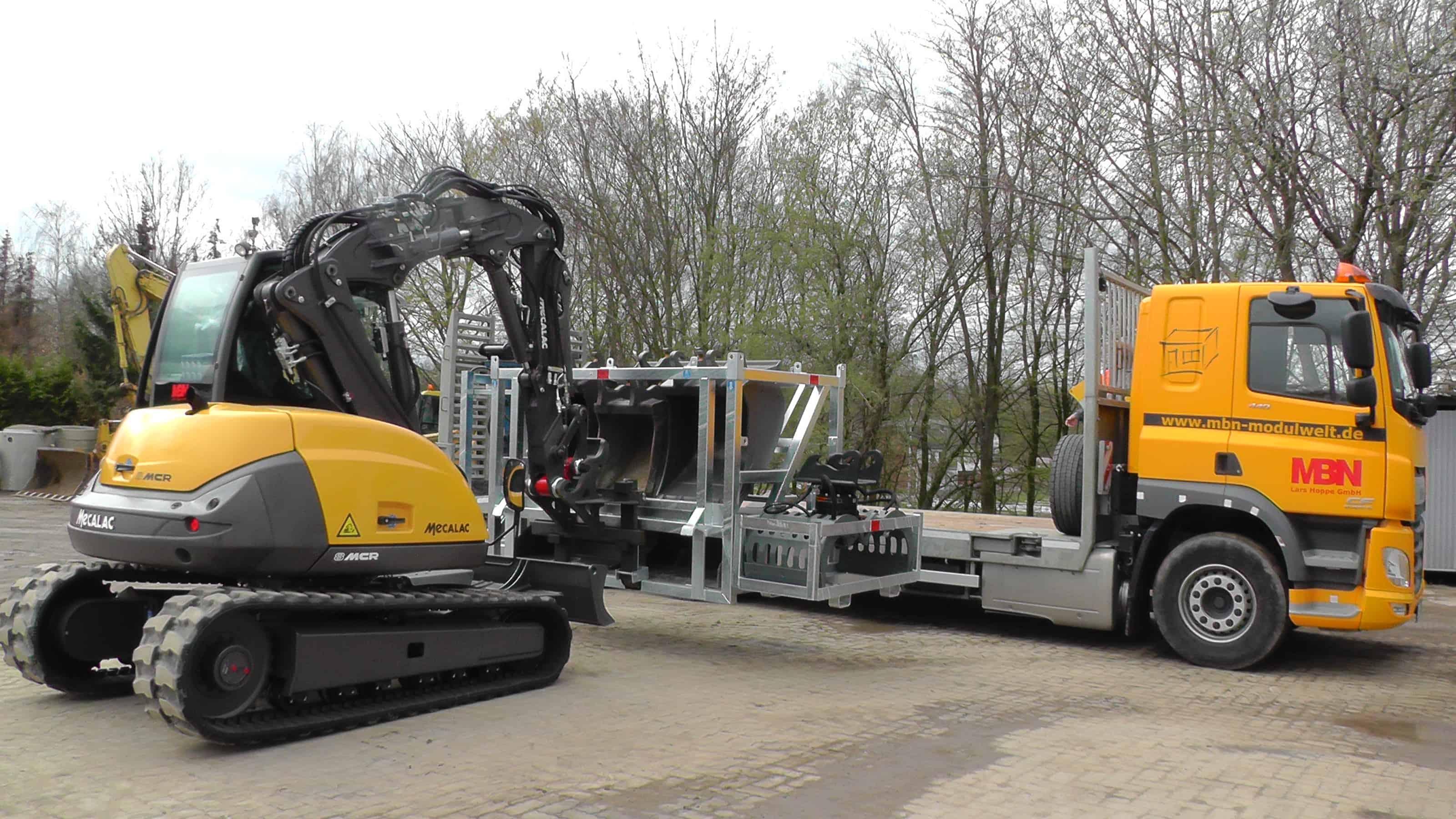 MBN Toolbx Mecalac Transport Anbaugeräte Sicherung Lagerung