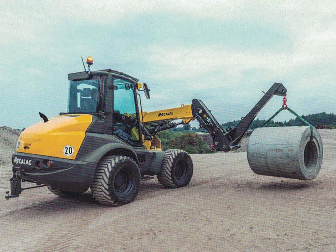 Mecalac AS900 tele im Einsatz